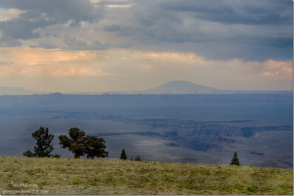 valley Vermilion & Echo Cliffs Navajo Mt reverse sunset Marble View Kaibab National Forest Arizona