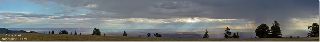 crepuscular rays Marble View Kaibab National Forest Arizona