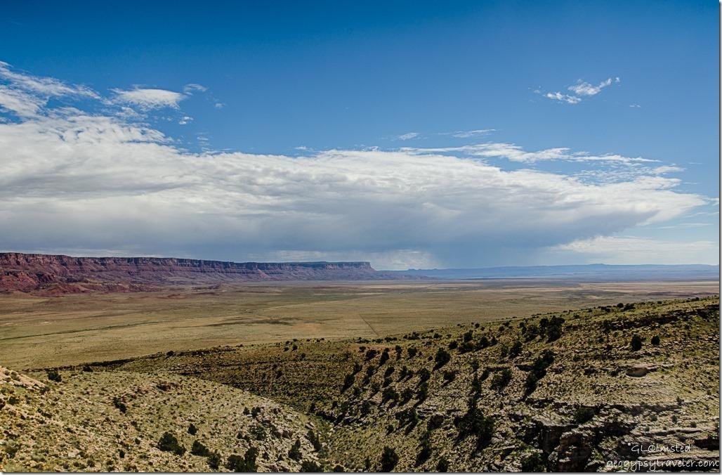 Marble Plateau Vermilion & Echo Cliffs storm clouds Kaibab National Forest Arizona