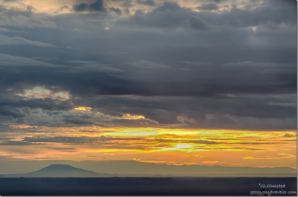 Navajo Mountain sunrise Marble View Kaibab National Forest Arizona