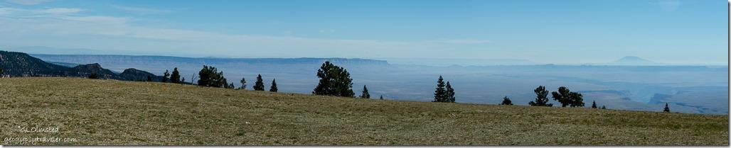 Hazy Navajo Mountain Marble View Kaibab National Forest Arizona