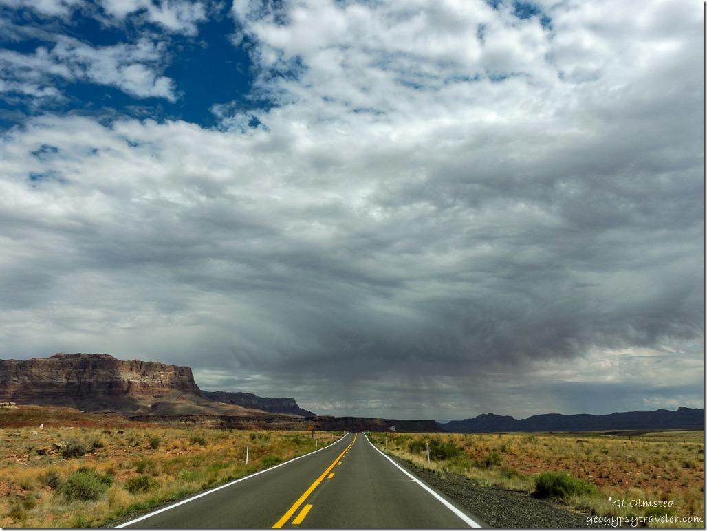 stormy sky Vermilion & Echo Cliffs SR89A East Arizona