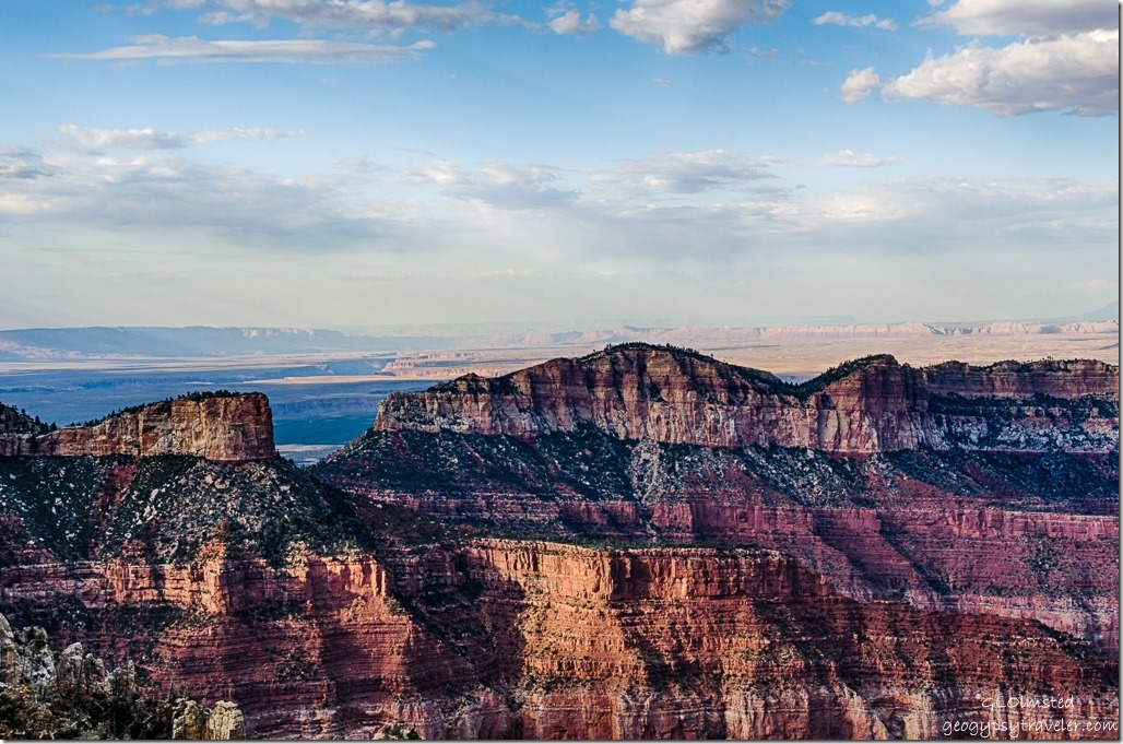 Saddle Mountain Marble Canyon Vermilion & Echo Cliffs from Point Imperial North Rim Grand Canyon National Park Arizona