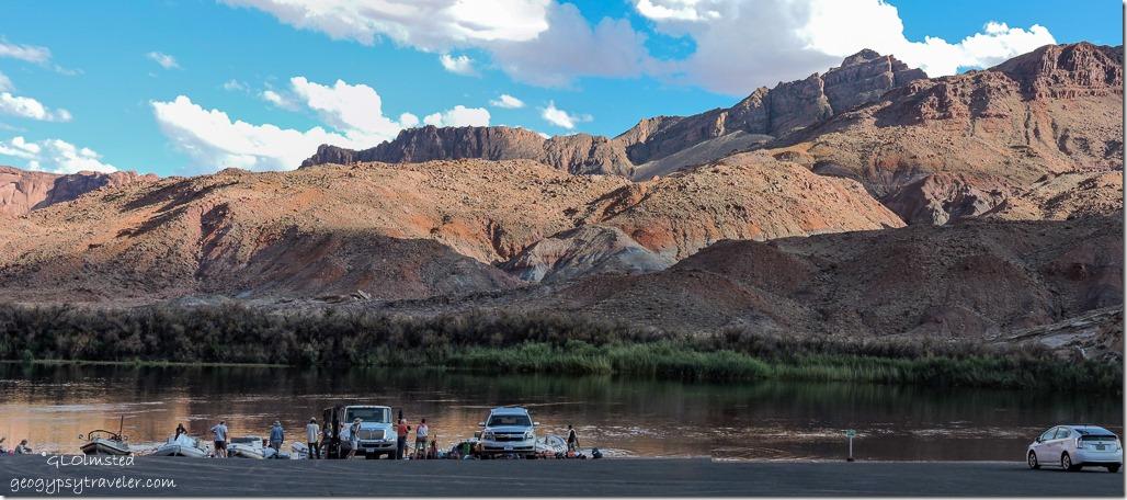 boats Colorado River Echo Cliffs Lee's Ferry Glen Canyon National Recreation Area Marble Canyon Arizona