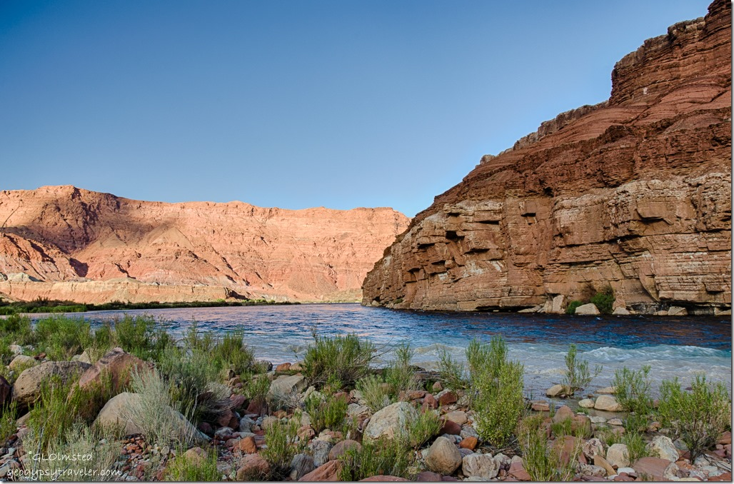 Colorado River & muddy Paria River flow below Lee's Ferry Glen Canyon National Recreation Area Arizona
