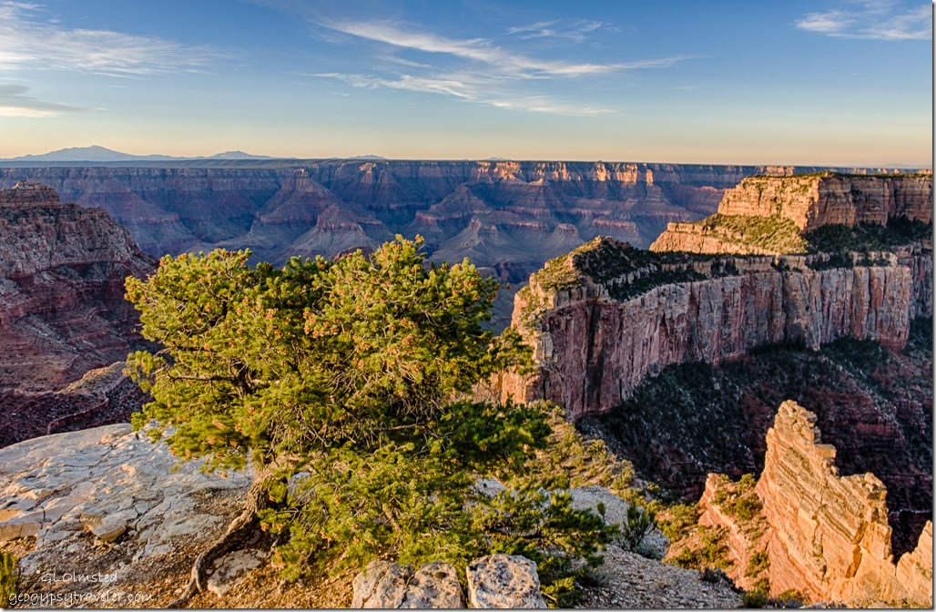early light Wotans Throne Cape Royal North Rim Grand Canyon National Park Arizona