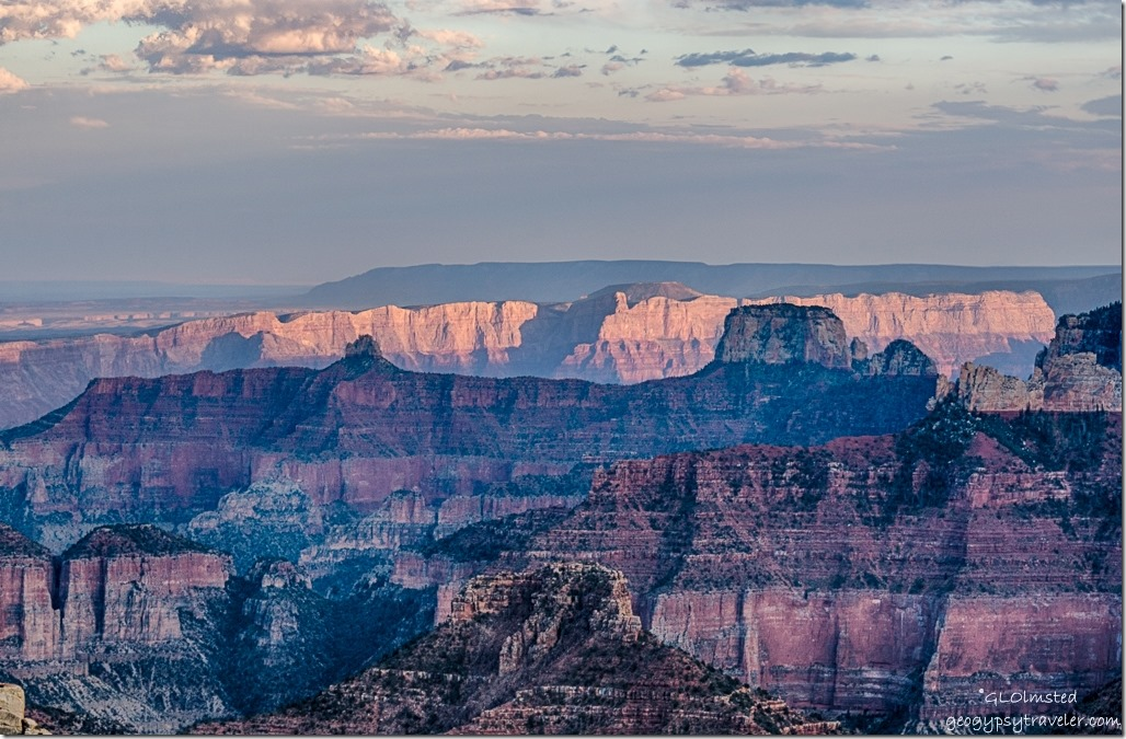 canyon light from Point Imperial North Rim Grand Canyon National Park Arizona