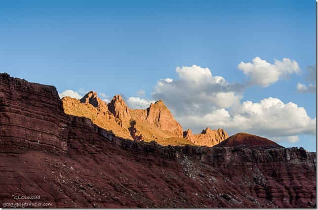 last light Echo Cliffs from camp Lee's Ferry Glen Canyon National Recreation Area Arizona