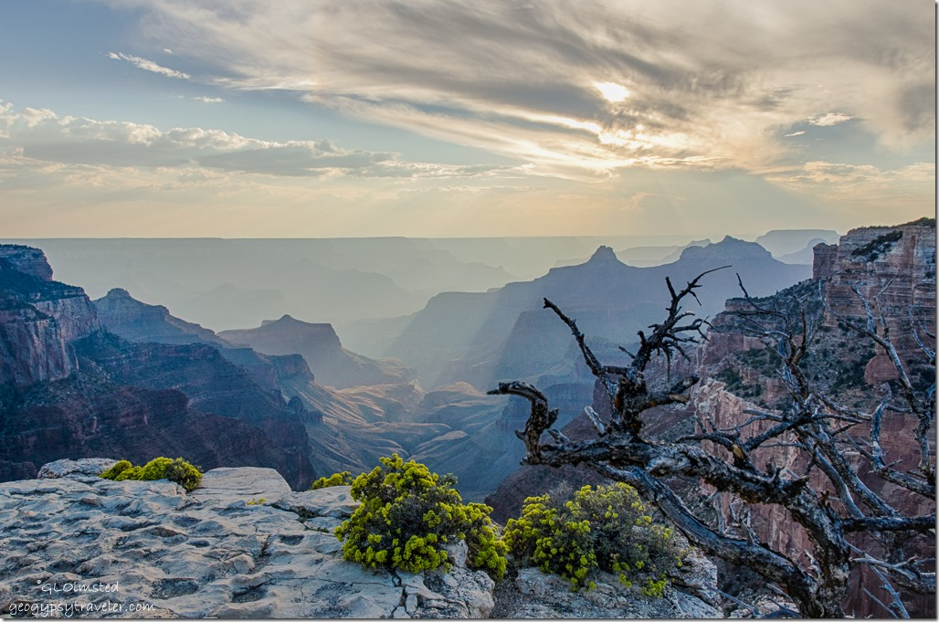 last light from Cape Royal North Rim Grand Canyon National Park Arizona