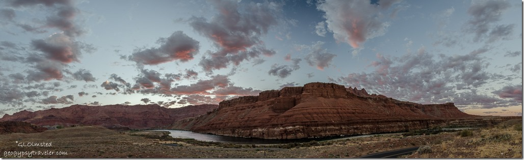 sunrise from camp Lee's Ferry Glen Canyon National Recreation Area Arizona