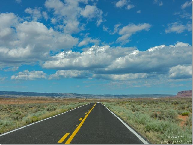 clouds over Kaibab Plateau SR89A West Arizona