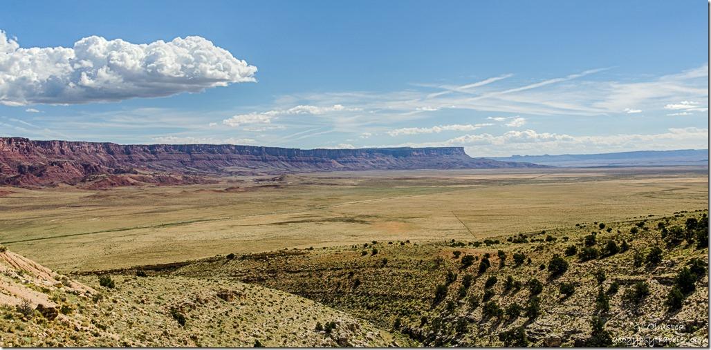 highway Marble Platform Vermilion & Echo Cliffs clouds from SR89A Kaibab National Forest Arizona