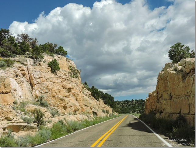 road cut clouds Kaibab National Forest SR89A West Arizona