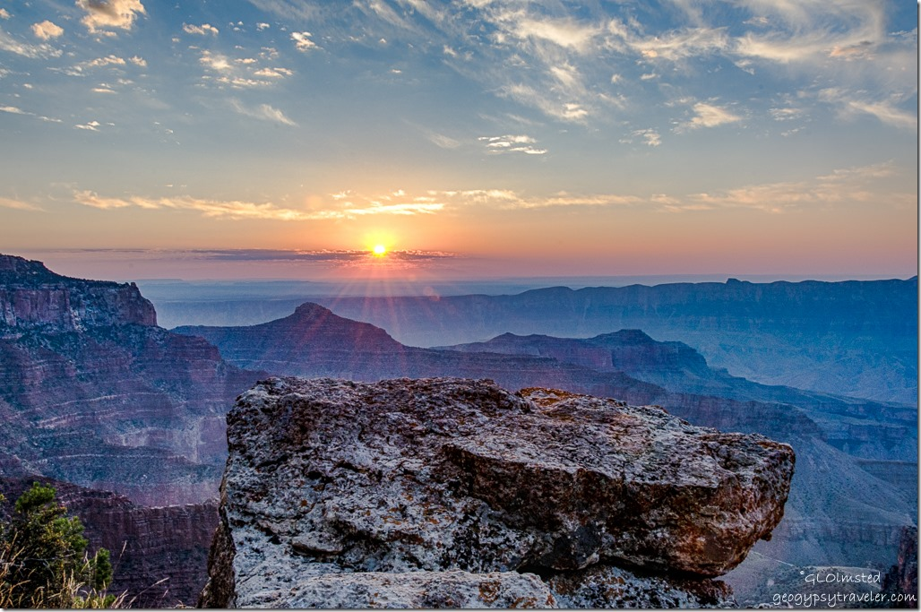 sunrise Walhalla Plateau North Rim Grand Canyon National Park Arizona