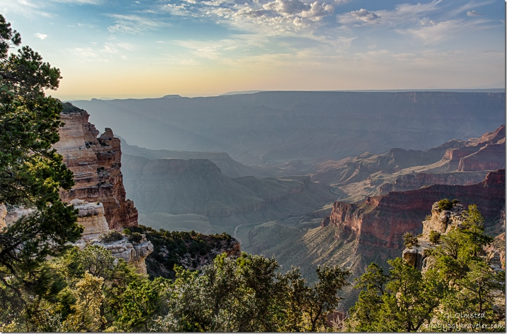 morning light view Walhalla overlook Cape Royal Road North Rim Grand Canyon National Park Arizona
