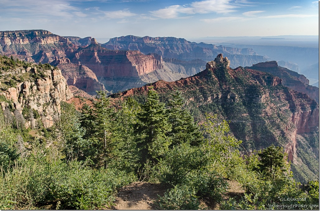 Brady Peak Mt Hayden Saddle Mountain Vista Encantada Cape Royal Road North Rim Grand Canyon National Park Arizona