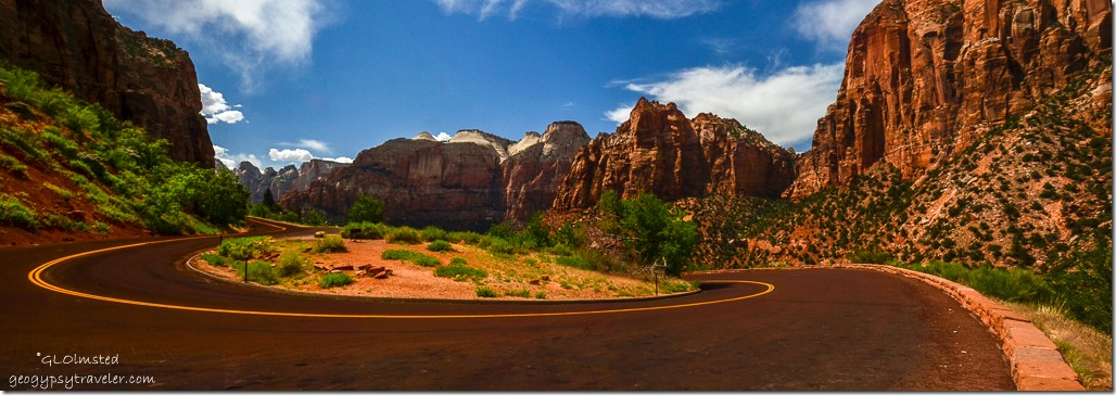 Curvy road Zion National Park Utah