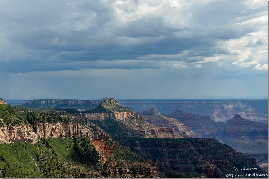 747 View SE from Crystal Creek overlook Point Sublime Road North Rim Grand Canyon National Park Arizona
