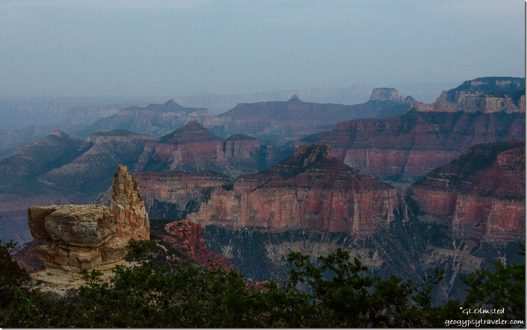 View South Point Imperial North Rim Grand Canyon National Park Arizona