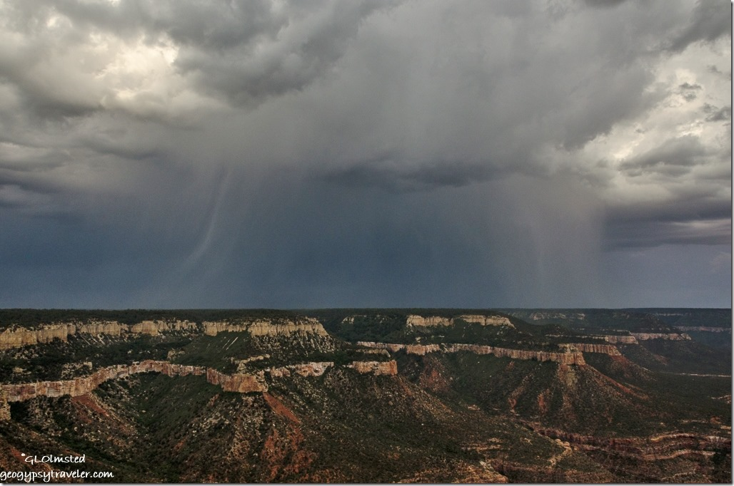 Storm Southeast over Rainbow Rim from Crazy Jug Point Kaibab National Forest Arizona