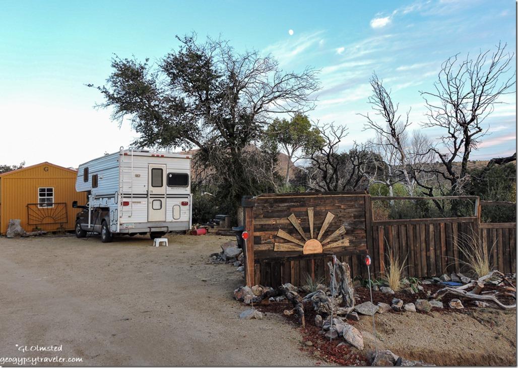 fence truck camper Berta's Yarnell Arizona