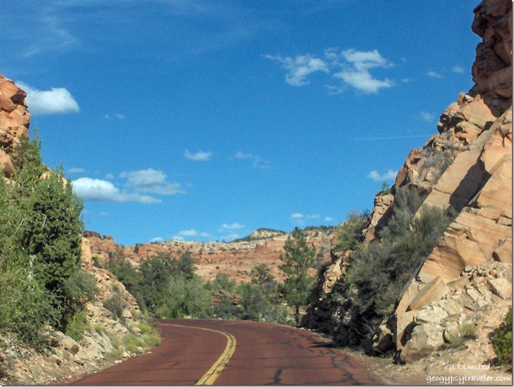 Highway 9 East Zion National Park Utah