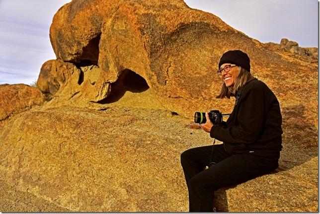 Gaelyn boulder Alabama Hills BLM Lone Pine California