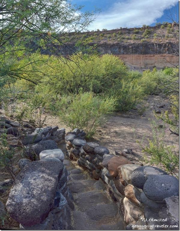 stone steps Burro Creek campground US93 Arizona