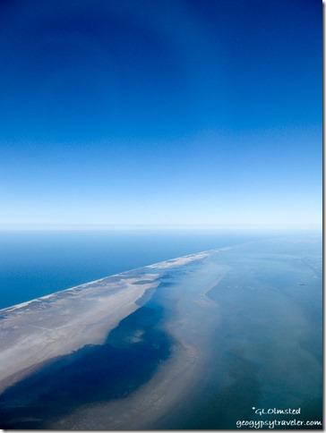 Flying over coastal Texas