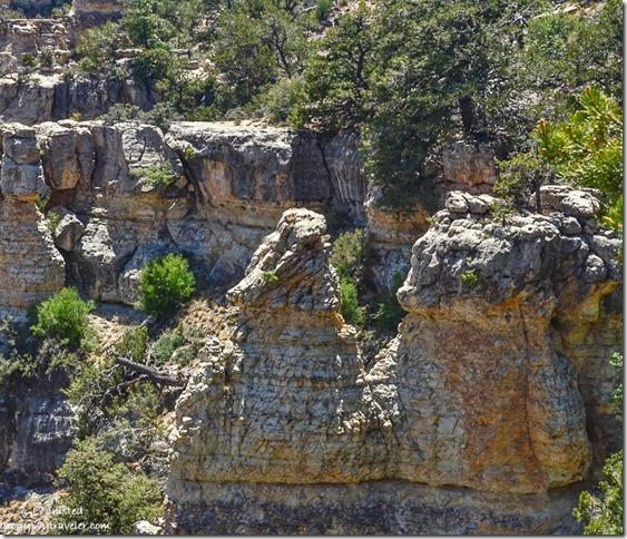 Dragon rocks in canyon Walhalla Plateau North Rim Grand Canyon National Park Arizona