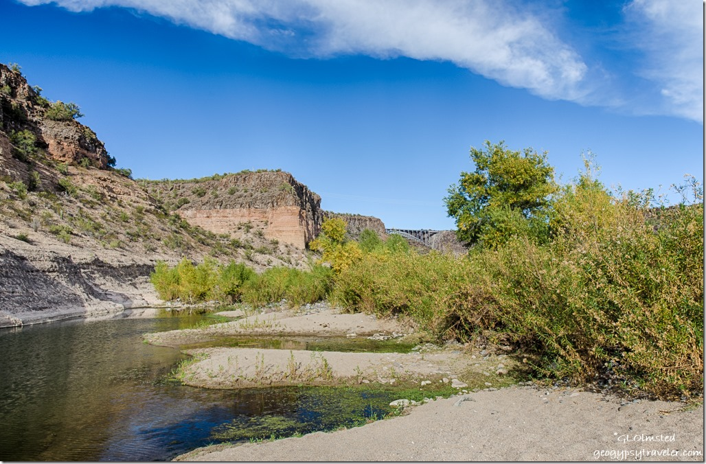 Burro Creek upstream high bridge campground Arizona