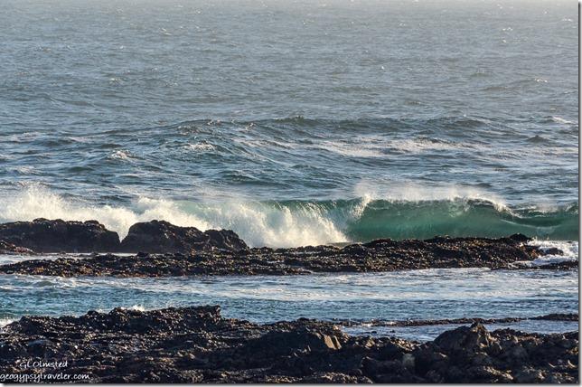 Crashing waves on rocky coast Indian Ocean Tsitsikamma National Park South Africa