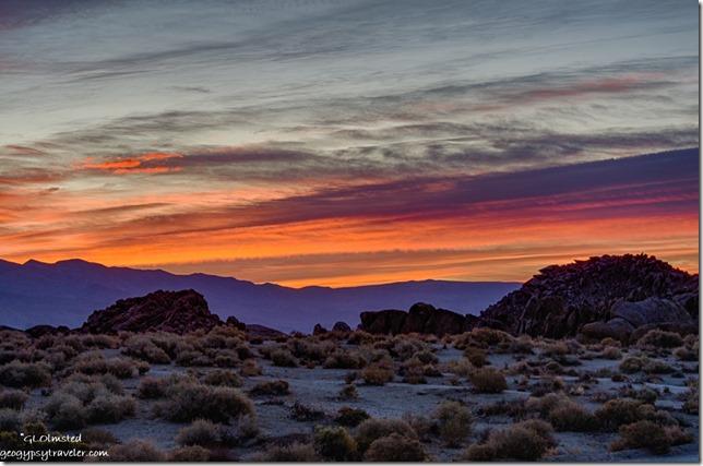 sunrise Alabama Hills Lone Pine California