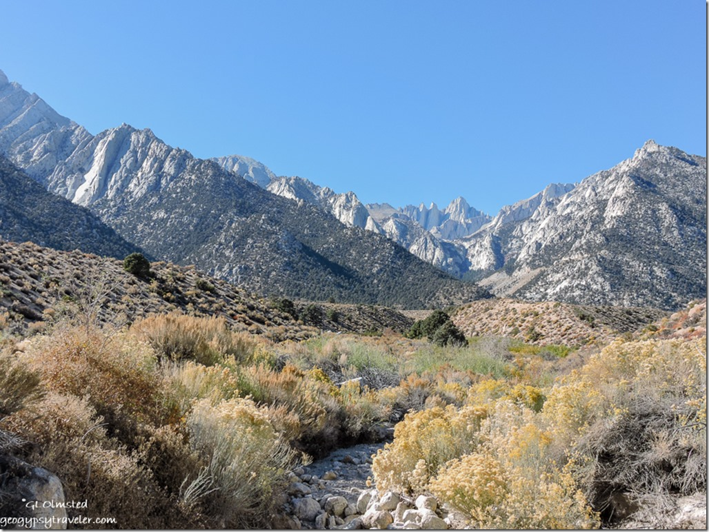 creek Mount Whitney Lone Pine campground Inyo National Forest California