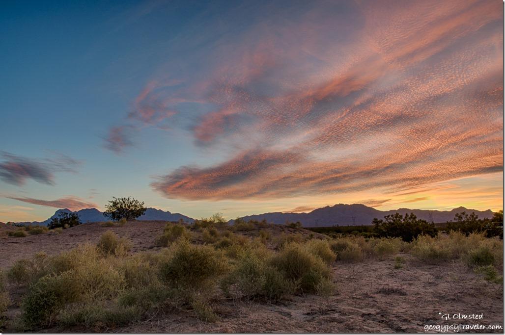 sunrise Kelso Dunes Mojave National Preserve California