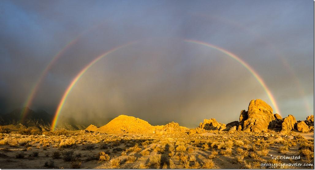 double rainbow Alabama Hills BLM Lone Pine California