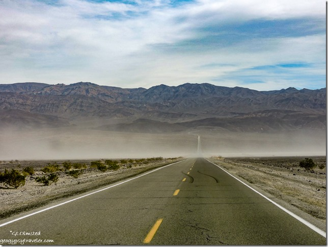 wind blown sand Panamint Valley California