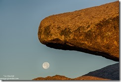 boulder full moon set Yarnell Arizona