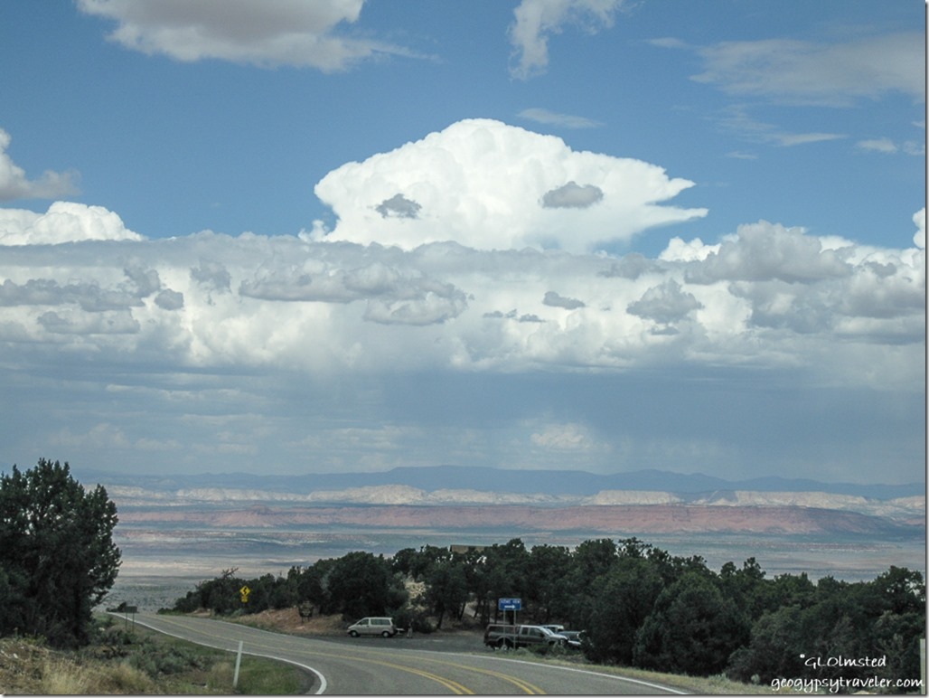 Storm clouds over Grand Staircase Escalante State Route 89A North Kaibab National Forest Arizona