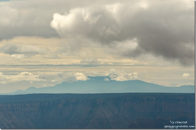 Clouds over Mount Humphreys from Lodge North Rim Grand Canyon National Park Arizona