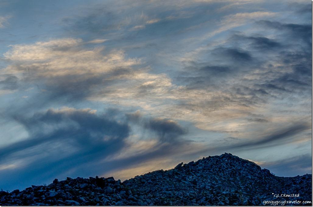 Weaver Mountains sunset Yarnell Arizona