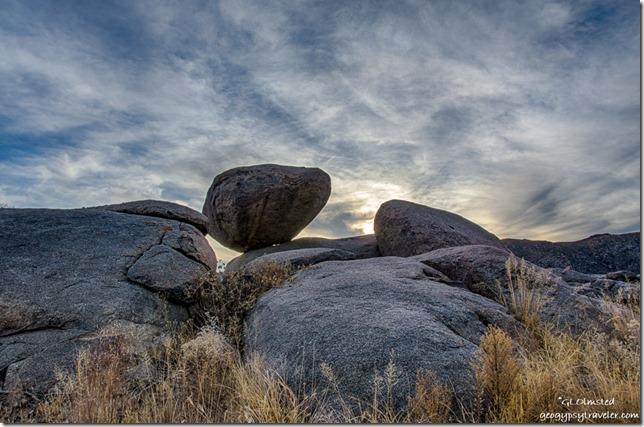 pre-sunset boulders Yarnell Arizona