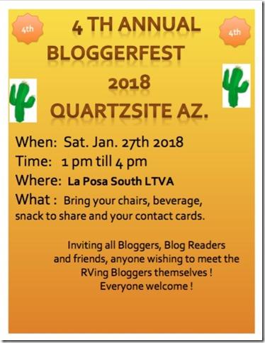 Blogger-fest 2018