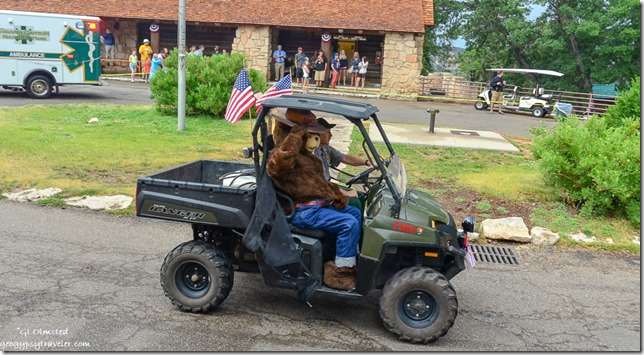 Smokey Bear 4th of July parade North Rim Grand Canyon National Park Arizona