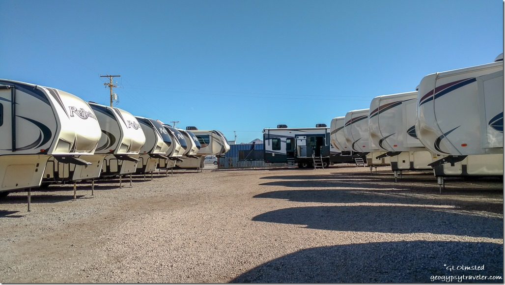 rows RV show Quartzsite Arizona