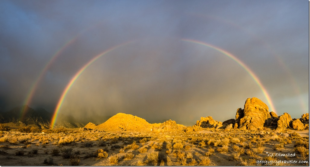 double rainbow Alabama Hills BLM Lone Pine California