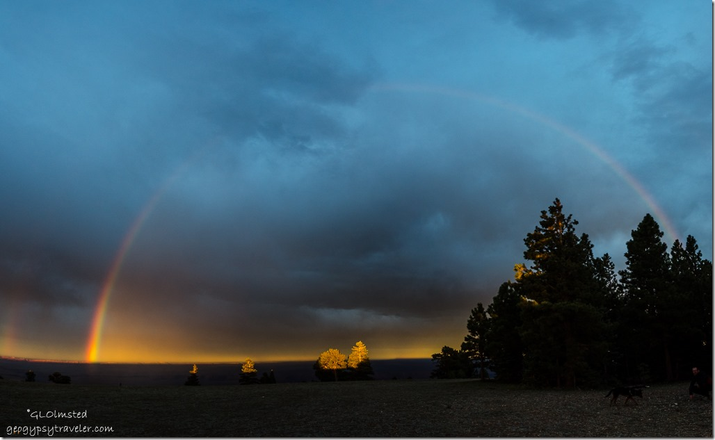 rainbow from Marble View Kaibab National Forest Arizona
