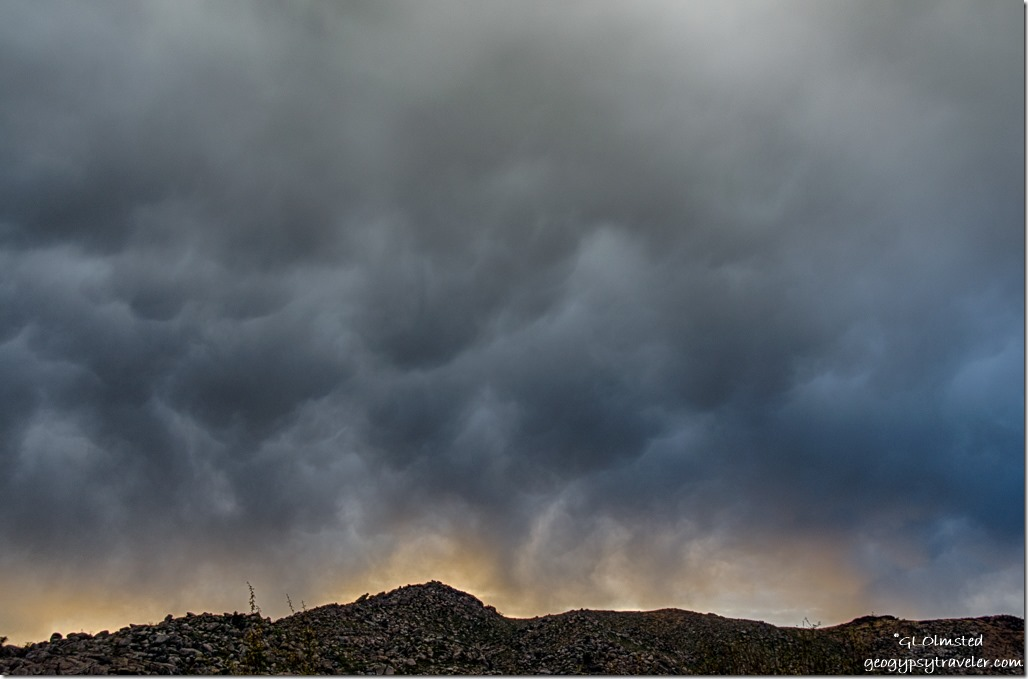 Weaver Mountains crazy clouds sunset Yarnell Arizona