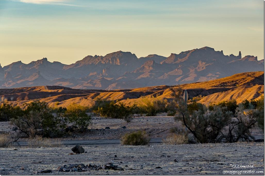 last light Shea Road camp Parker Arizona