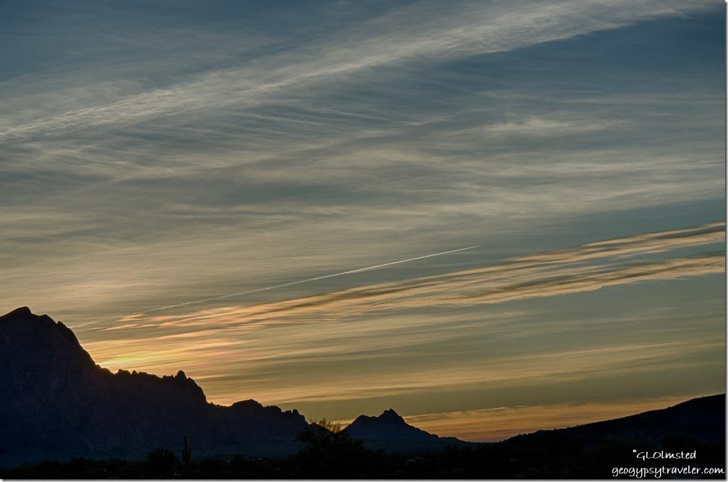 sunrise Kofa Mountains Kofa NWR Arizona
